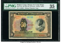 Belgian Congo Banque du Congo Belge 50 Francs ND (1941-42) Pick 16a PMG Choice Very Fine 35.   HID09801242017  © 2020 Heritage Auctions | All Rights R...