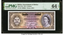 Belize Government of Belize 2 Dollars 1.1.1974 Pick 34a PMG Choice Uncirculated 64 EPQ.   HID09801242017  © 2020 Heritage Auctions | All Rights Reserv...