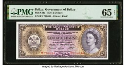 Belize Government of Belize 2 Dollars 1.1.1976 Pick 34c PMG Gem Uncirculated 65 EPQ.   HID09801242017  © 2020 Heritage Auctions | All Rights Reserve