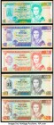 Belize Central Bank of Belize 1990-91 Group Lot of 5 Examples Crisp Uncirculated.   HID09801242017  © 2020 Heritage Auctions | All Rights Reserve