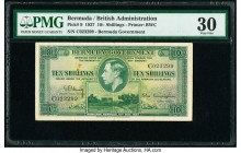 Bermuda Bermuda Government 10 Shillings 12.5.1937 Pick 9 PMG Very Fine 30. Minor rust.  HID09801242017  © 2020 Heritage Auctions | All Rights Reserve