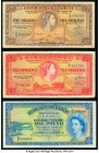 Bermuda Bermuda Government 5; 10 Shillings; 1 Pound 1.5.1957 (2); 1.10.1966 Pick 18; 19; 20 Three Examples Fine.   HID09801242017  © 2020 Heritage Auc...