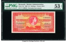 Bermuda Bermuda Government 10 Shillings 1.10.1966 Pick 19c PMG About Uncirculated 53 EPQ.   HID09801242017  © 2020 Heritage Auctions | All Rights Rese...