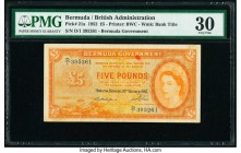 Bermuda Bermuda Government 5 Pounds 20.10.1952 Pick 21a PMG Very Fine 30.   HID09801242017  © 2020 Heritage Auctions | All Rights Reserve