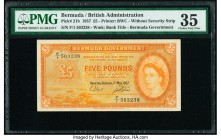 Bermuda Bermuda Government 5 Pounds 1.5.1957 Pick 21b PMG Choice Very Fine 35.   HID09801242017  © 2020 Heritage Auctions | All Rights Reserve