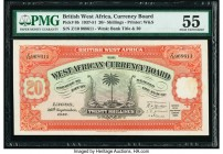 British West Africa West African Currency Board 20 Shillings 26.9.1947 Pick 8b PMG About Uncirculated 55.   HID09801242017  © 2020 Heritage Auctions |...