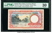 British West Africa West African Currency Board 20 Shillings 31.3.1953 Pick 10a PMG Very Fine 30.   HID09801242017  © 2020 Heritage Auctions | All Rig...