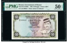 Brunei Government of Brunei 50 Ringgit 1986 Pick 9d KNB9e PMG About Uncirculated 50 EPQ.   HID09801242017  © 2020 Heritage Auctions | All Rights Reser...