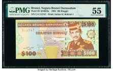 Brunei Negara Brunei Darussalam 100 Ringgit 1996 Pick 26 KNB23a PMG About Uncirculated 55.   HID09801242017  © 2020 Heritage Auctions | All Rights Res...
