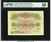 Ceylon Government of Ceylon 10 Rupees 2.10.1939 Pick 25c PMG Very Fine 30. Rust.  HID09801242017  © 2020 Heritage Auctions | All Rights Reserve