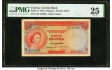 Ceylon Central Bank of Ceylon 5 Rupees 1.10.1954 Pick 54 PMG Very Fine 25.   HID09801242017  © 2020 Heritage Auctions | All Rights Reserve