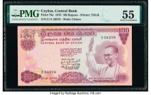 Ceylon Central Bank of Ceylon 100 Rupees 10.26.1970 Pick 78a PMG About Uncirculated 55. Small tear.  HID09801242017  © 2020 Heritage Auctions | All Ri...