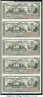 Cuba Group Lot of 4 Notes and 1 Uncut Sheet About Uncirculated-Crisp Uncirculated.   HID09801242017  © 2020 Heritage Auctions | All Rights Reserve