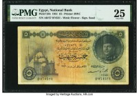 Egypt National Bank of Egypt 5 Pounds 1951 Pick 25b PMG Very Fine 25. Minor repair.  HID09801242017  © 2020 Heritage Auctions | All Rights Reserve
