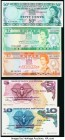 Fiji Government of Fiji 50 Cents ND (1969) Pick 58a About Uncirculated. Fiji Central Monetary Authority 2; 5 Dollars ND (1980) Pick 77a; 78a Crisp Unc...