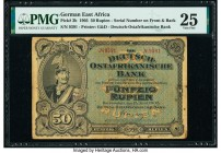 German East Africa Deutsch-Ostafrikanische Bank 50 Rupien 15.6.1905 Pick 3b PMG Very Fine 25. Rust.  HID09801242017  © 2020 Heritage Auctions | All Ri...