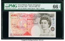 Great Britain Bank of England 50 Pounds 1994 (ND 2006) Pick 388c PMG Gem Uncirculated 66 EPQ.   HID09801242017  © 2020 Heritage Auctions | All Rights ...