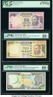 India Reserve Bank of India 50; 500 Rupees 2013; 2015 Pick 104e; 106n Two Examples PCGS Superb Gem New 67PPQ; PMG Superb Gem Unc 68 EPQ; Syria Central...
