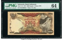 Indonesia Bank Indonesia 5000 Rupiah 1975 Pick 114 PMG Choice Uncirculated 64.   HID09801242017  © 2020 Heritage Auctions | All Rights Reserve