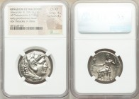 MACEDONIAN KINGDOM. Alexander III the Great (336-323 BC). AR tetradrachm (27mm, 17.02 gm, 12h). NGC Choice XF 4/5 - 4/5. Posthumous issue of uncertain...