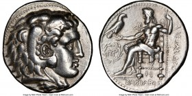 MACEDONIAN KINGDOM. Alexander III the Great (336-323 BC). AR tetradrachm (27mm, 16.99 gm, 6h). NGC Choice VF 5/5 - 4/5, Fine Style, brushed. Posthumou...