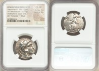MACEDONIAN KINGDOM. Alexander III the Great (336-323 BC). AR tetradrachm (24mm, 16.97 gm, 6h). NGC Choice VF 4/5 - 4/5. Posthumous issue of Tyre, ca. ...