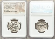 MACEDONIAN KINGDOM. Alexander III the Great (336-323 BC). AR tetradrachm (25mm, 17.13 gm, 2h). NGC Choice VF 4/5 - 3/5. Posthumous issue of Babylon I,...