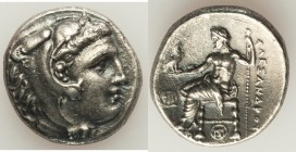MACEDONIAN KINGDOM. Alexander III the Great (336-323 BC). AR tetradrachm (26mm, 16.78 gm, 1h). Choice XF. Posthumous issue of Miletus, ca. 323-319 BC....