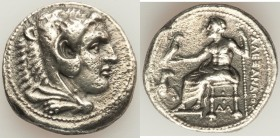 MACEDONIAN KINGDOM. Alexander III the Great (336-323 BC). AR tetradrachm (27mm, 16.47 gm, 11h). XF. porosity. Lifetime or early posthumous issue of Da...