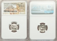 MACEDONIAN KINGDOM. Alexander III the Great (336-323 BC). AR drachm (17mm, 4.29 gm, 12h). NGC MS 5/5 - 5/5. Early posthumous issue of Lampsacus, ca. 3...