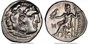MACEDONIAN KINGDOM. Alexander III the Great (336-323 BC). AR drachm (18mm, 1h). NGC Choice AU. Posthumous issue of Abydus, ca. 310-301 BC. Head of Her...