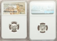 MACEDONIAN KINGDOM. Alexander III the Great (336-323 BC). AR drachm (16mm, 12h). NGC AU. Early posthumous issue of Sardes, ca. 323-319 BC. Head of Her...