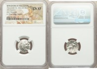 MACEDONIAN KINGDOM. Alexander III the Great (336-323 BC). AR drachm (16mm, 1h). NGC Choice XF Lifetime or early posthumous issue of Sardes, ca. 334-32...