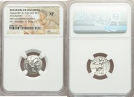 MACEDONIAN KINGDOM. Alexander III the Great (336-323 BC). AR drachm (17mm, 12h). NGC XF. Posthumous issue of Colophon, ca. 319-310 BC. Head of Heracle...