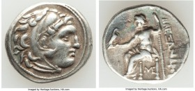 MACEDONIAN KINGDOM. Alexander III the Great (336-323 BC). AR drachm (18mm, 4.20 gm, 12h). About XF. Posthumous issue of Lampsacus, ca. 310-301 BC. Hea...