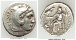 MACEDONIAN KINGDOM. Alexander III the Great (336-323 BC). AR drachm (18mm, 4.22 gm, 11h). Choice VF. Late lifetime-early posthumous issue of 'Teos', c...