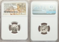 THRACIAN KINGDOM. Lysimachus (305-281 BC). AR drachm (17mm, 4.36 gm, 1h). NGC AU 5/5 - 5/5. Posthumous Alexander type issue of Colophon, ca. 310-301 B...