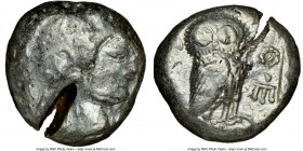ATTICA. Athens. Ca. 510/500-480 BC. AR tetradrachm (22mm, 17.98 gm, 4h). NGC Choice Fine 3/5 - 2/5, test cut. Head of Athena right, wearing crested At...