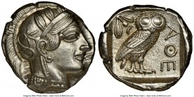 ATTICA. Athens. Ca. 440-404 BC. AR tetradrachm (25mm, 17.21 gm, 4h). NGC MS 5/5 - 4/5, brushed. Mid-mass coinage issue. Head of Athena right, wearing ...