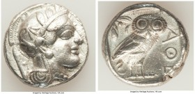 ATTICA. Athens. Ca. 440-404 BC. AR tetradrachm (23mm, 16.86 gm, 8h). XF. Mid-mass coinage issue. Head of Athena right, wearing crested Attic helmet or...