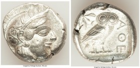 ATTICA. Athens. Ca. 440-404 BC. AR tetradrachm (26mm, 17.16 gm, 10h). Choice XF. Mid-mass coinage issue. Head of Athena right, wearing crested Attic h...