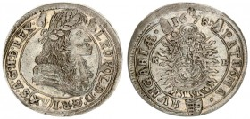 Austria Hungary 15 Krajczar 1678 KB Kremnica. Leopold I(1657-1705). Averse: Bust laureate right legends on scroll. Reverse: Radiant Madonna and child ...