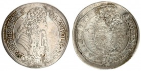 Austria Hungary 15 Krajczar 1688 KB Kremnica. Leopold I(1657-1705). Averse: Bust laureate right legends on scroll. Reverse: Radiant Madonna and child ...