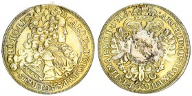 Austria Bohemia 1/2 Thaler 1716 Charles VI(1711-1740). Averse: Laureate armored bust with long wig right. Reverse: Crowned imperial eagle with central...