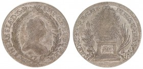 Austria Hungary 20 Krajczar 1763 KB Maria Theresia (1740-1780). Averse: Bust right within palm and laurel wreath. Reverse: Radiant Madonna and child a...