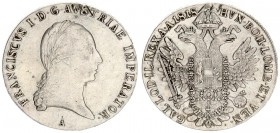 Austria 1 Thaler 1818 A Francis I (1815-1835). Averse: Laureate head right. Reverse: Crowned imperial double eagle. Reverse Legend: ...GAL. LOD. IL. R...
