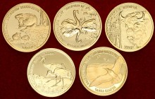Belarus Lot of 5 coins 2006. Belarusian National Parks and Nature Reserves. Gold. (With box and certificates). KM# 123/ KM# 125 / KM# 143 / KM# 144 / ...