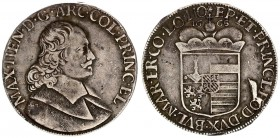 Liege 1 Patagon 1665 Maximilian Henry of Bavaria (1650-1688) Av: Bust of Maximilian Henry right Rv: Capped eight-fold arms; date above. Silver. Davenp...