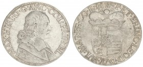 Liege 1 Patagon 1666 Maximilian Henry(1650-1688.). Averse: Bust of Maximilian Henry right. Averse Legend: MAX • H(EA)N • D • G • ARC • COL • PRIN(C) •...