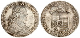 Liege 1 Patagon 1678 Maximilian Henry(1650-1688). Averse: Bust of Maximilian Henry right. Averse Legend: MAX • H(EA)N • D • G • ARC • COL • PRIN(C) • ...
